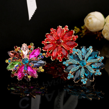 Europe Noriyasu Golden diamond crystal Adjustable ring opening are not allergic to is color wholesale alloy jewelry