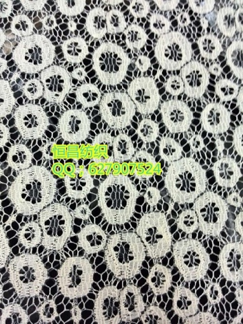 Hollow circle black thread lace fabric scarf cloth clothing fabric curtain fabric
