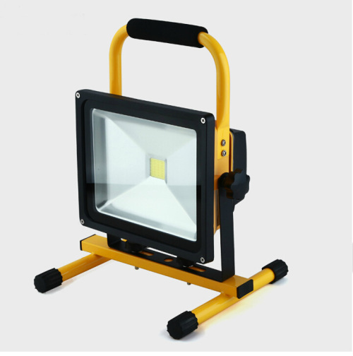 Removable LED on-board rechargeable spot light/lamp portable outdoor site lighting