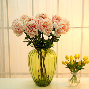 High-grade PU artificial flowers feel peony flowers living room furnishings manufacturers spend floriculture simulation