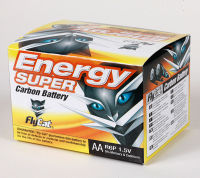 FLYCAT yellow cat 4 5th card battery carbon zinc battery
