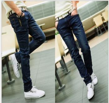 Men's spring loaded Korean men's jeans men skinny pencil pants feet pants men leisure long pants tide