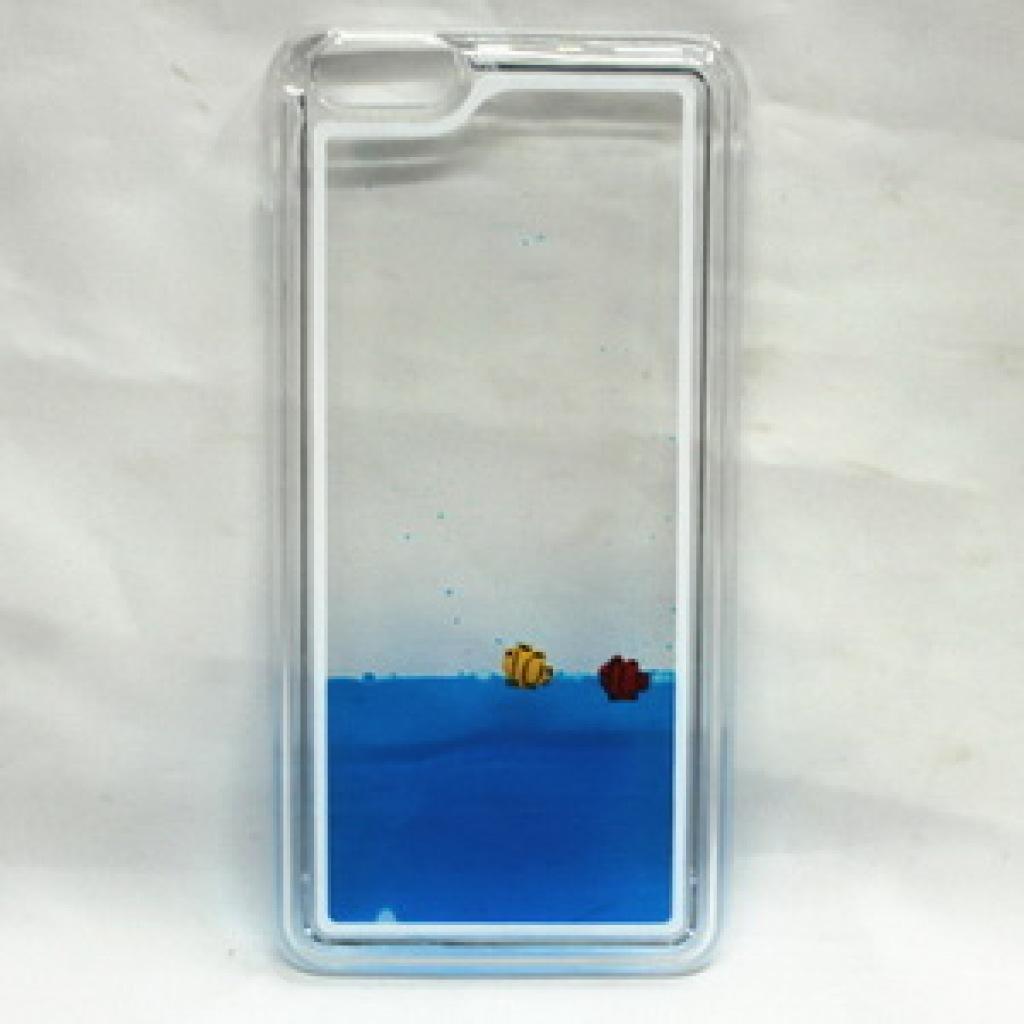透明流沙星星鱼儿液体流动手机后盖保护壳iphone6 6+