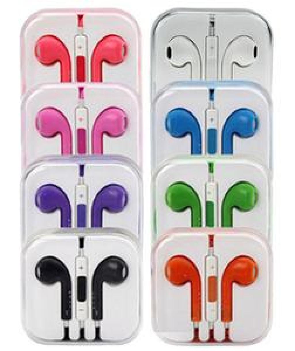 Supply Iphone5 Iphone 5 Color Bass Headphones Earphones Earpods Apple Earphone Handsfree Rainbow Colours
