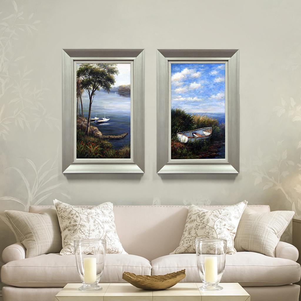 沙发背景墙装饰画客厅现代简约无框画玄关挂画