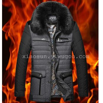 New winter middle-aged and older men's casual coat men's jacket