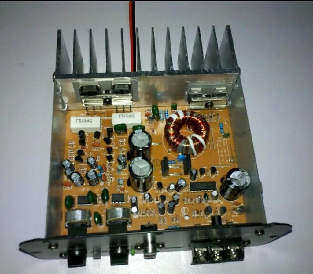 12v24v70w低音炮功放6寸/8寸用大功率汽车音响主板