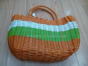 田园塑料编织菜篮子,购物篮,框子收纳篮子手提篮