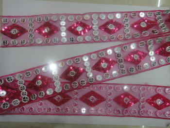Factory direct sale sequin lace patterns lace fabric garment accessories accessory material wholesale