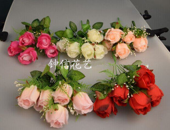 Wholesale simulation flower simulation auspicious rose simulation flower / fake flower / decorative flower