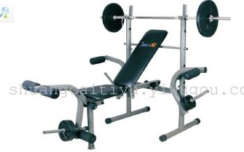 SC-82108 standard weight bench<With 80kg barbell>