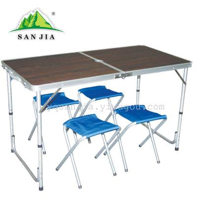 Certified SANJIA outdoor camping products folding aluminum alloy tables and chairs outdoor leisure