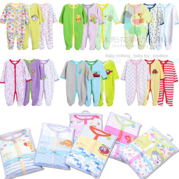 Carter's cotton baby kids clothes long climb with climbing even romper suit