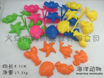 Children play sand beach toys toys toys marine animal model