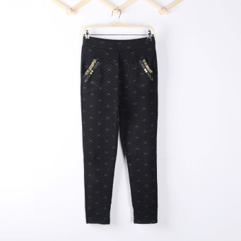 Big yards in spring and summer wear leggings pencil pants feet pants slim girl Korean version of trousers slim