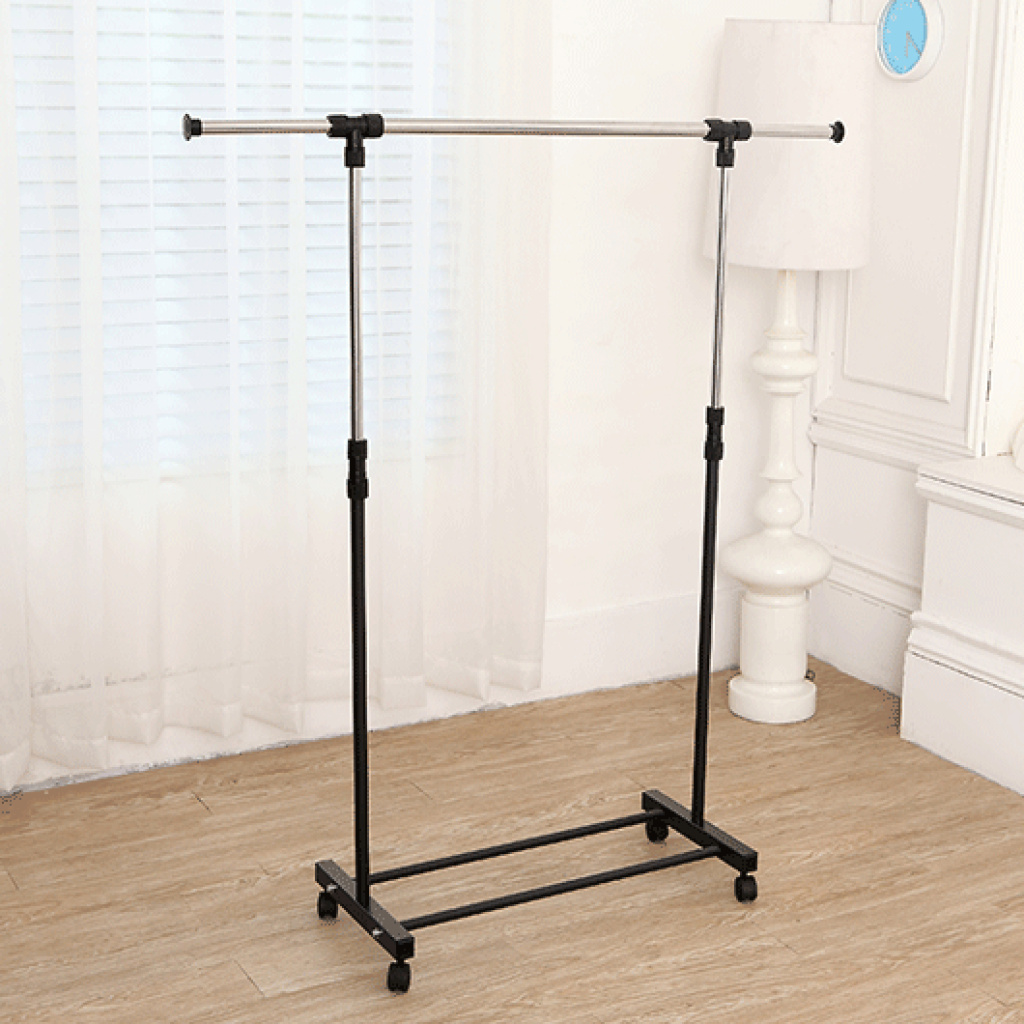 Supply Stainless Steel Single Rod The Retractable Airer Indoor Single Row Floor Lift Drying Rack