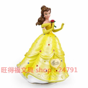 Genuine Disney Princess Belle Rotary Music Bell decoration decorations eco resin crafts
