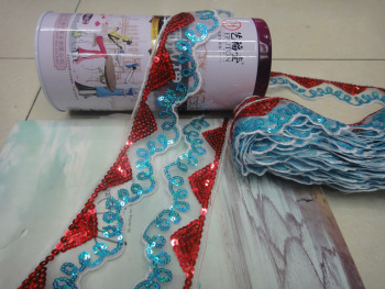 Manufacturers selling sequined lace patterns lace fabric garment accessories accessory material wholesale