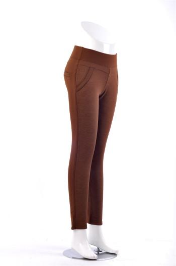 Number 8006 printing plus velvet padded high-elastic wearing warm pants fashion pants leggings