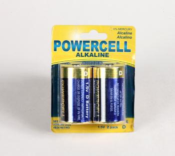 POWERCELL牌碱性大号电池