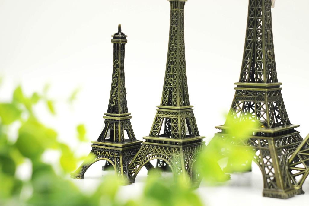 法国巴黎埃菲尔铁塔模型铁艺工艺品金属模型