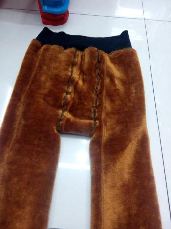 Velvet padded one new factory direct gold pants, warm pants cotton trousers