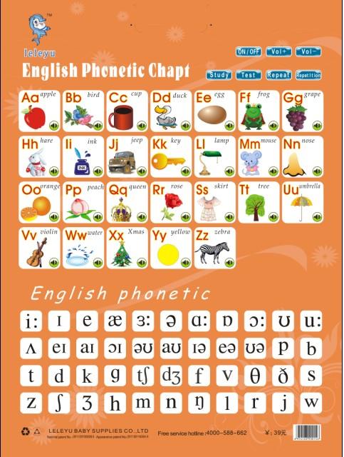 幼儿字母拼音认知发声卡
