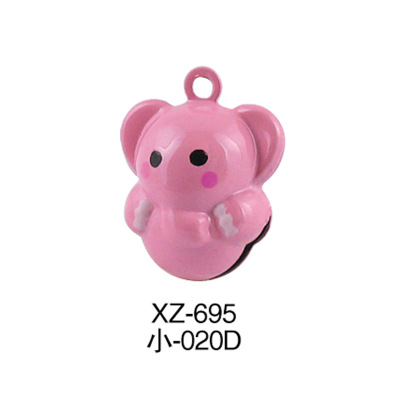 Cute little elephant jewelry cartoon bell, elephant Thailand and other places of tourism crafts