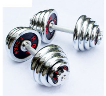 The new 10~40kg black paint electroplating dumbbell saneshige mercerizing rod fitness equipment in the scarlet letter