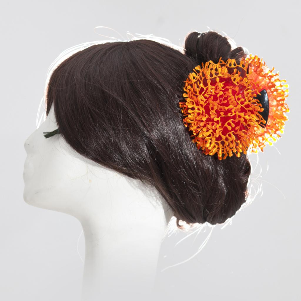 812f00909c Hot sale Orange Khaleeji Hair Clamp Clip Flower Volumiser For Hijab Scarf  LARGE FLOWER HAIR CLIPS