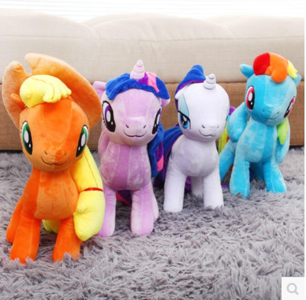 迪士尼毛绒玩具 小马宝莉pony彩虹马公仔