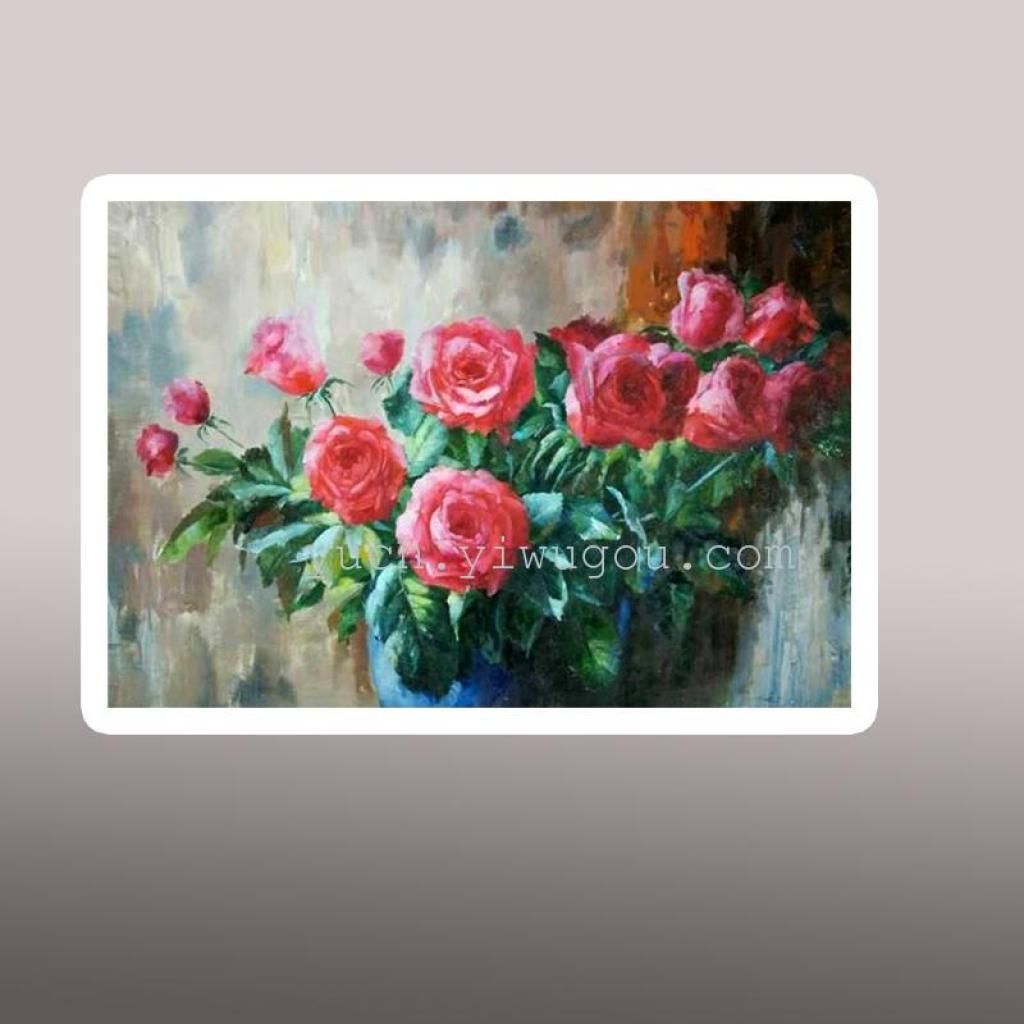 瑜辰纯手绘油画客厅餐厅玄关装饰画抽象风景壁画古典图片