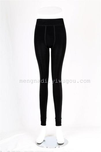 Model 9274 winter outer wear slim black cashmere is not inverted toe leggings of nine warm pants