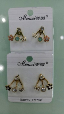 Marye new Korea fashion drops of oil and diamond stud earrings-eardrop hanging after fashion and elegant little ear diamond