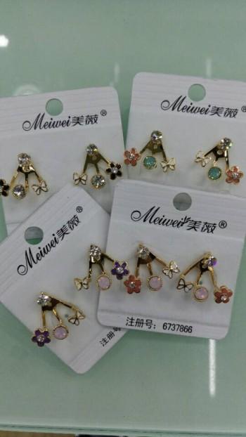 Marye new Korea fashion drops of oil and diamond stud earrings-eardrop hanging after fashion and elegant little ear diamond
