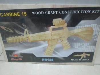 3D jigsaw puzzle toys 2 boards assembled gun model HR128