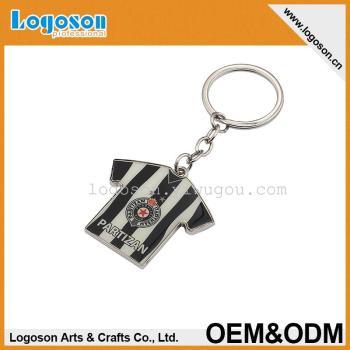 Metal Keychain sportswear shapes metal epoxy sticker key ring can be customized