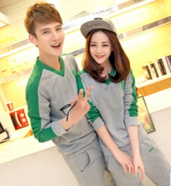 Hot spring and autumn lovers and casual sportswear suit men's and women's campaigners
