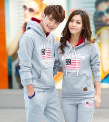 Couples fall/winter suit couples sportswear letter sweater Turtleneck Hoodie clothing tide