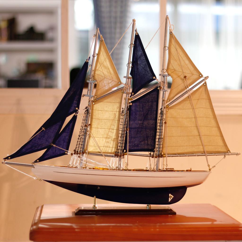 sb1213水翼号帆船模型摆件