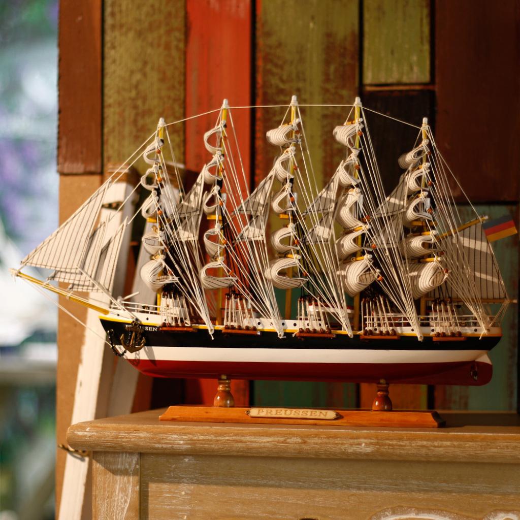 sb1244普鲁士号帆船模型摆件