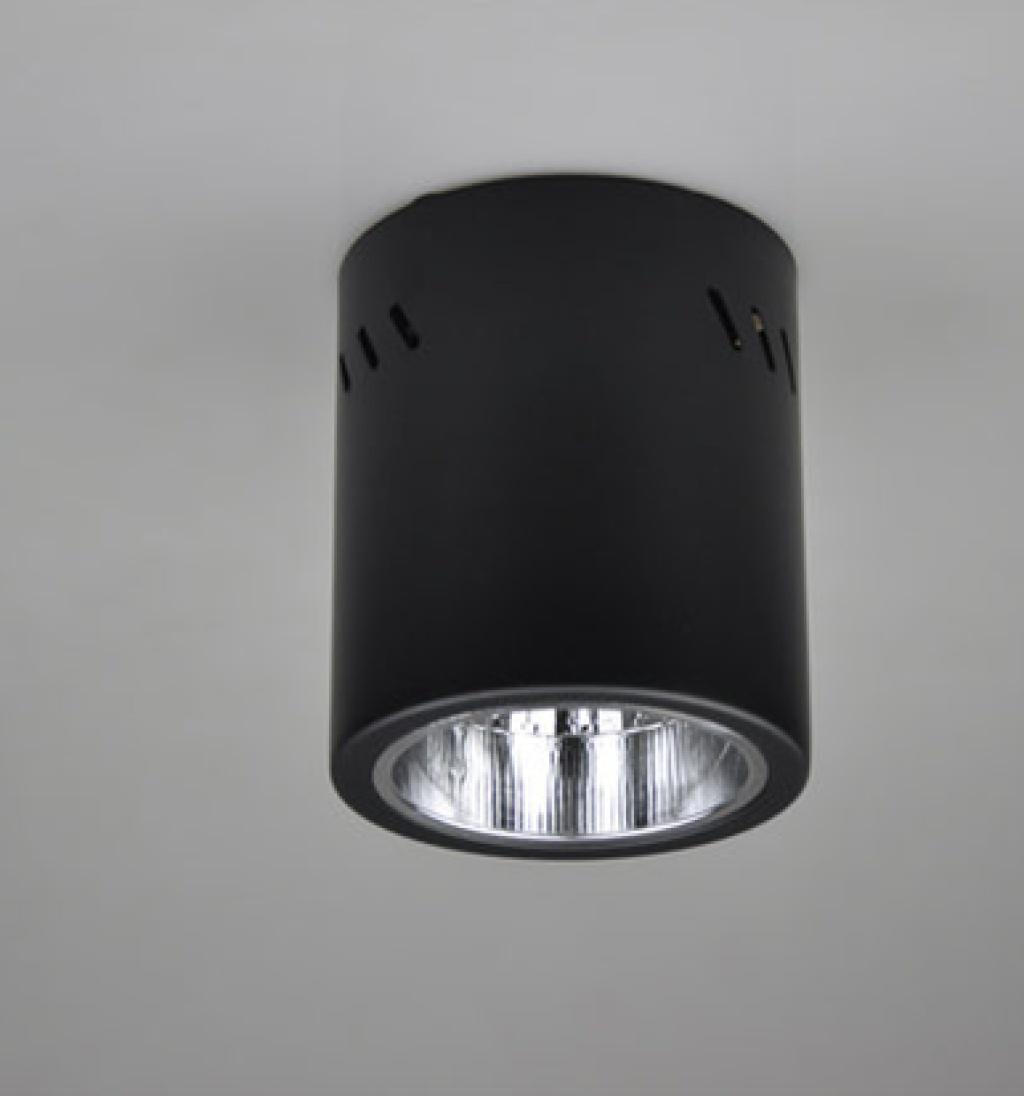明装筒灯天花灯投射灯面板灯 黑色/白色明装 .