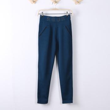Spring and summer large yards wearing leggings pencil pants feet pants was thin female Korean pants Slim