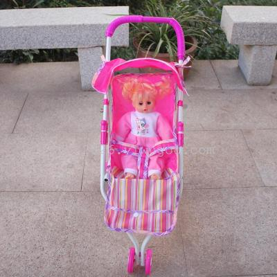 Children's toys. The cart with dolls. Play novelty toys toys.