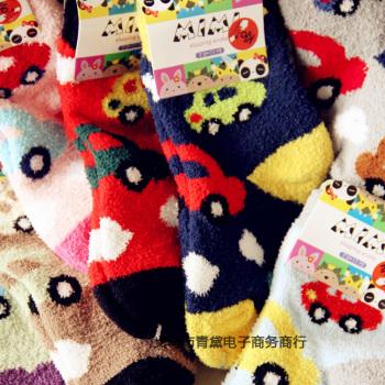 Cute cartoon baby socks floor socks infant children warm sleep good quality wholesale trade