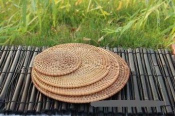 越南藤编织杯垫子茶杯垫 碗垫 隔热垫 杯垫 布艺杯垫
