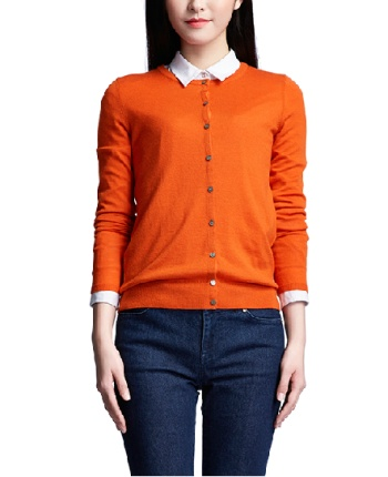 Knitting cardigan coat, render unlined upper garment