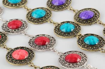 Color resin bracelet alloy alloy resin bracelets