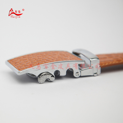 Fushida half inch crocodile teeth leather buckle genuine leather belt automatic