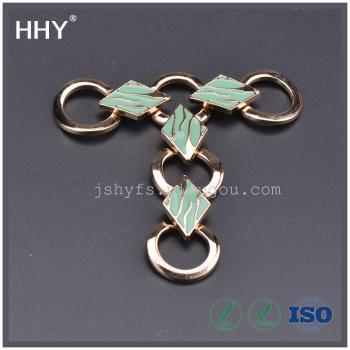 Diamond-shaped garment accessory shoe buckle alloy fittings studs